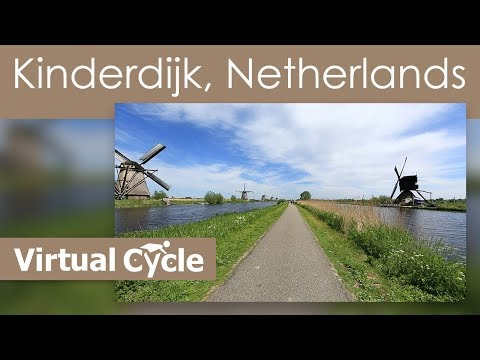 Spinner Video Virtual Cycle  Dutch Windmills Kinderdijk Video for your Treadmill
