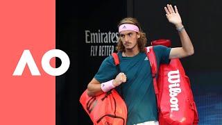 Rafael Nadal v Stefanos Tsitsipas on-court walk on (SF) | Australian Open 2019