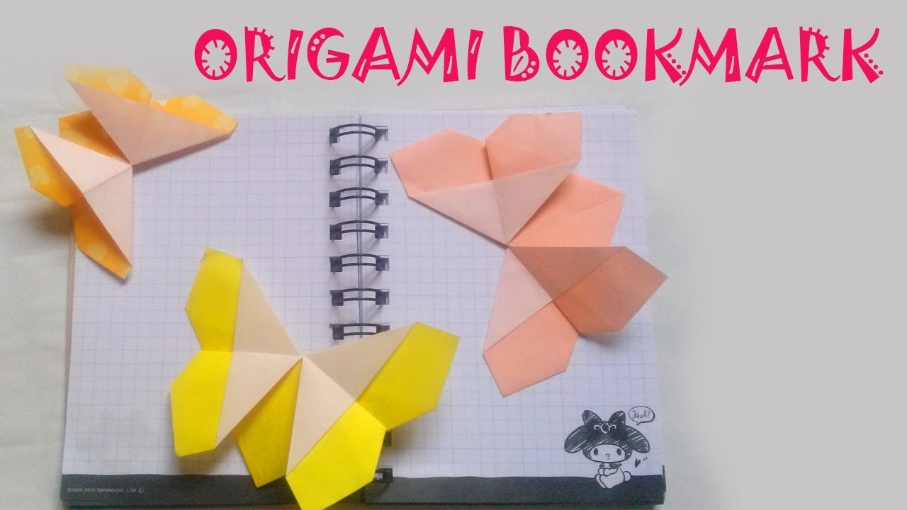 origami origami butterfly bookmark youtube