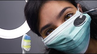 ASMR Dental Examination (Gloves, Scraping sounds, Teeth brushing, Light trigger...)