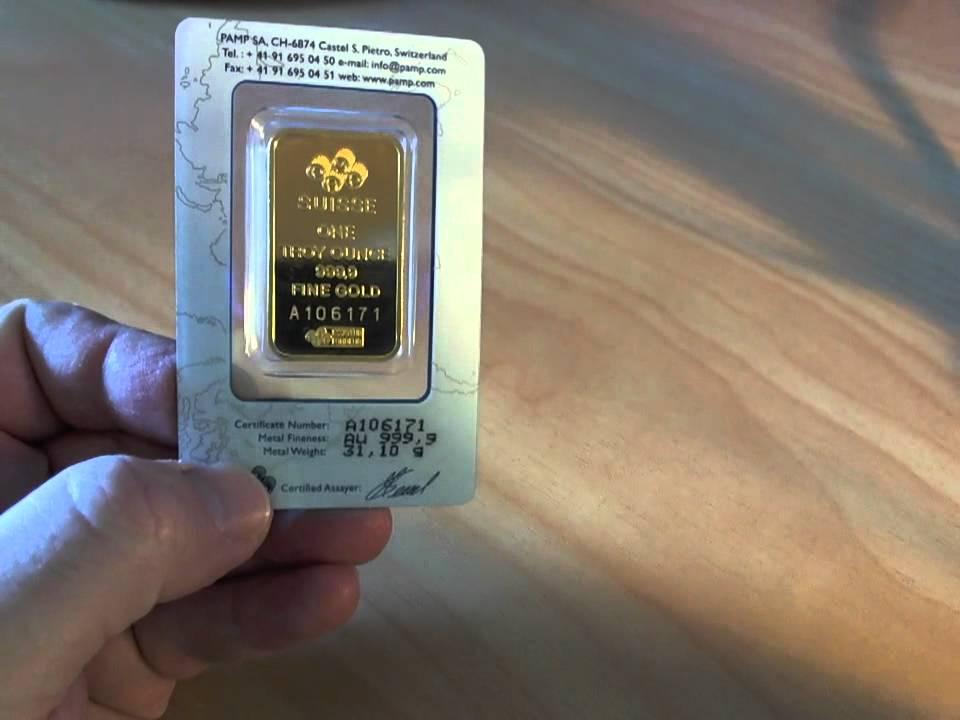 Pamp Suisse Gold Bullion Bar Youtube