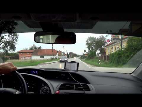 Driving from Krasic to Karlovac on highway D1 - Croatia (Hrvatska)