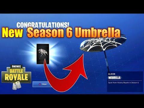 Fortnite Battle Royale Season 6 Victory Royale Umbrella Youtube