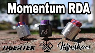 Momentum RDA By TigerTek & VapingWithTwisted419 - Build & Wick - Mike Vapes
