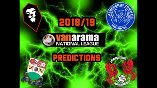 2018/19 Vanarama National League Predictions