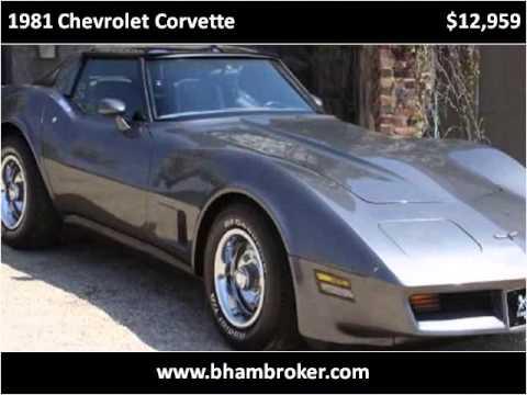 Used Cars Birmingham Al >> 1981 Chevrolet Corvette Used Cars Birmingham Al