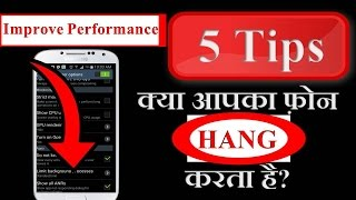 TOP 5 TIPS  to Solve Android HANGING Problem (Hindi)