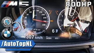 800HP BMW M5 F10 ACCELERATION 307km/h BIMMER TUNING BTM5 by AutoTopNL