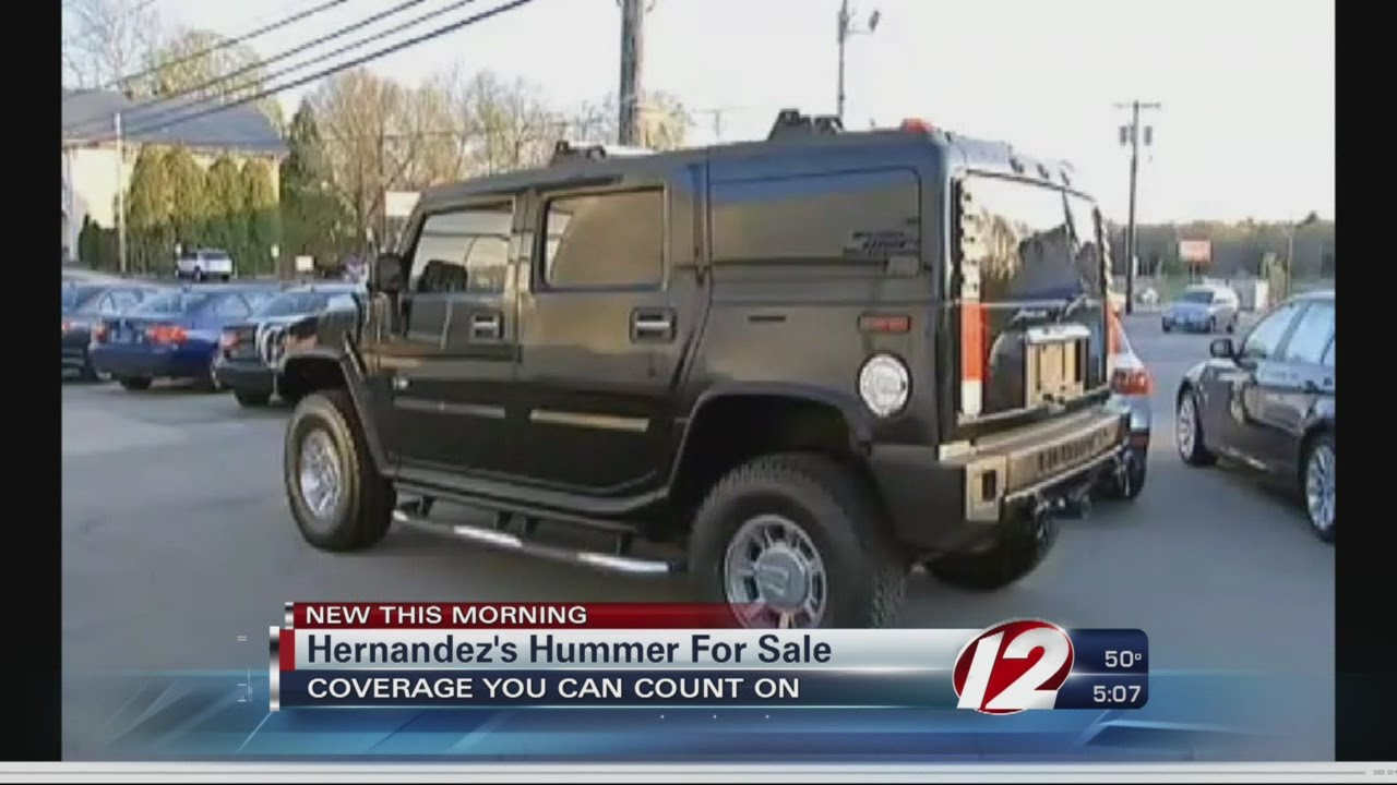 Worksheet. Aaron Hernandezs Hummer goes up for sale  YouTube