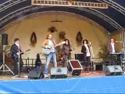 Allround Showband Partyband Alt wie ein Baum  Annaberger Bauernmarkt 2008 mit Cora Jena Thüringen