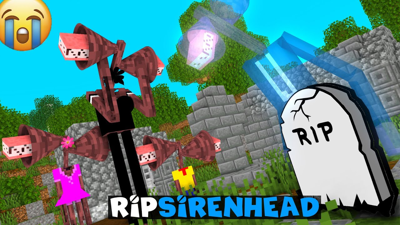 RIP SIRENHEAD - SAD Monster School - MINECRAFT ANIMATION
