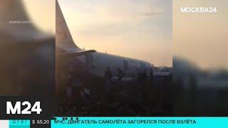 Смотреть видео Самолет Airbus А-321 посадили в поле на брюхо - Москва 24 онлайн
