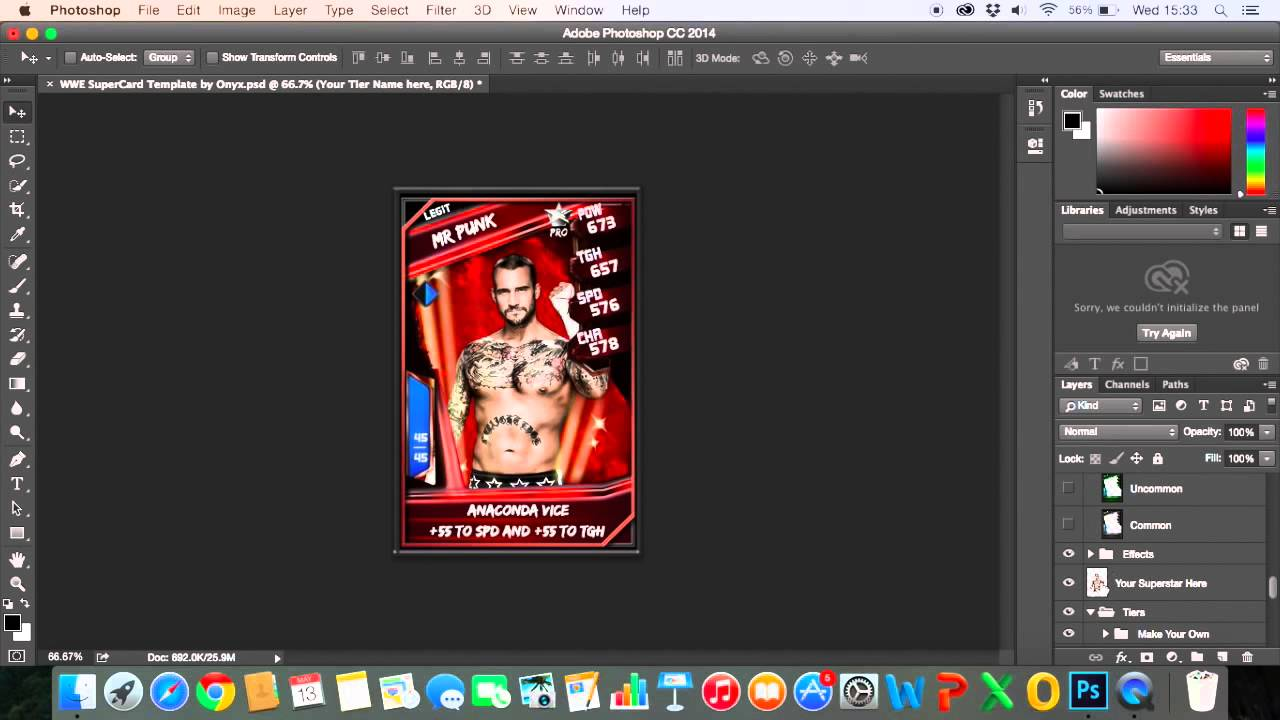 how to make your own wwe supercard card  photoshop   2015  template tutorial