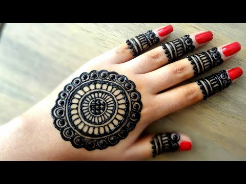 Beautiful Flowers Simple Easy Mandala Gol Tikki Henna Mehndi Designs