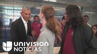 ¿Qué harías si Obama llega de sorpresa a tu escuela? Esto fue lo que le pasó a estos estudiantes