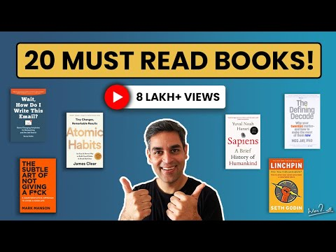 20 Books to read in your 20s | Ankur Warikoo Book Recommendations 2021 | Must read books for all