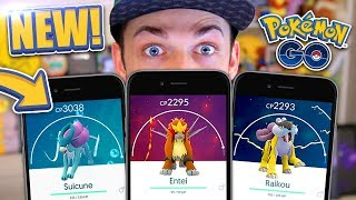HOW TO GET *ALL* THE LEGENDARY DOGS! (Entei, Suicune + Raikou) - Pokemon GO *NEW*