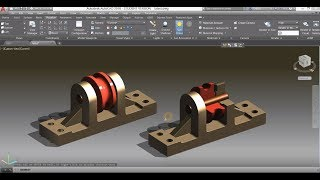 Mechanical modeling tutorial in AutoCAD / Assemble parts