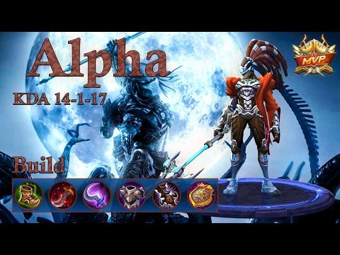 Mobile Legends: Alpha MVP, strong build and a quadra kill!