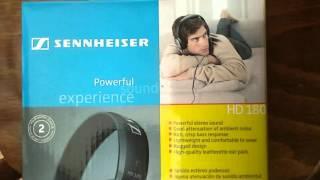 Огляд і розпакування навушників sennheiser HD 180