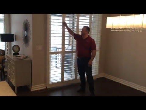 Norman Shutters Bifold 180 Shutter on Sliding Glass Door