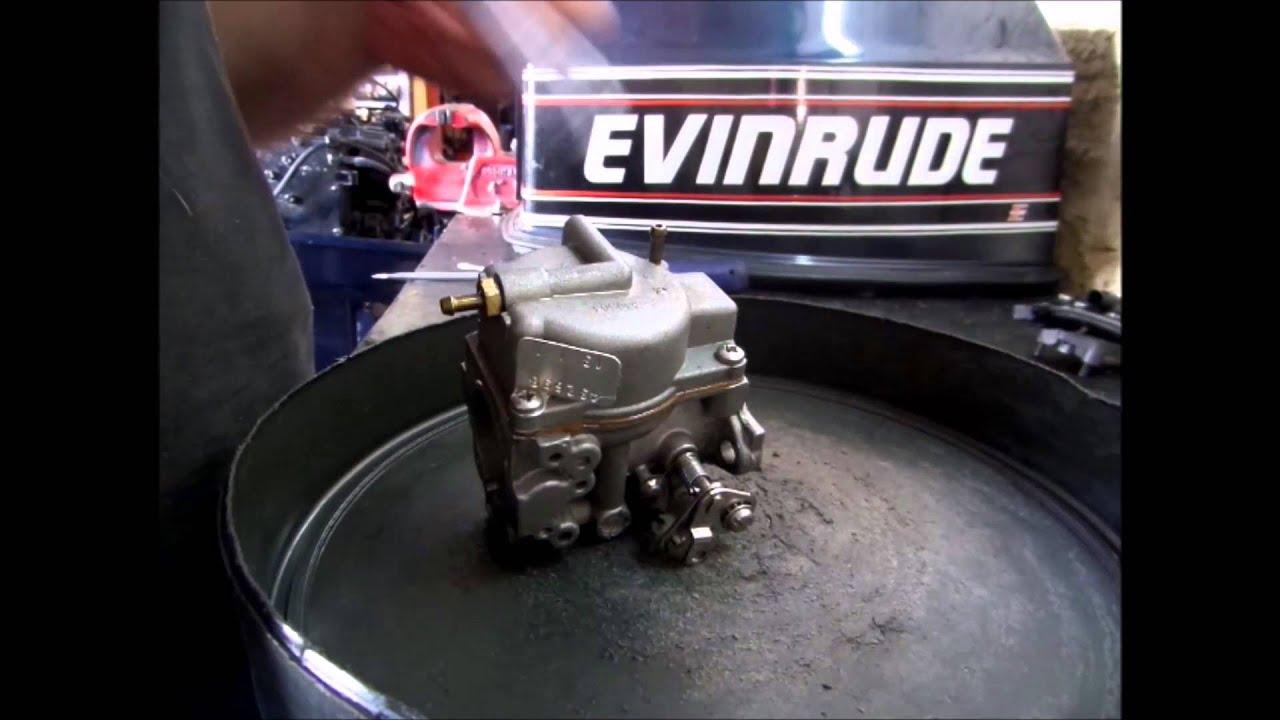 Motor Popa Evinrude 25 ano 1989 - 2/2 - Revisão Carburador / Elétrica