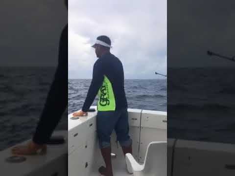 Mohammad Gouda fishing sailfish at Caribbean Mexico coast