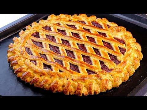 Чтобы пирог удался, возьмите ледяное масло! Идеальный пирог из песочного теста с джемом!