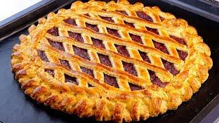 Чтобы пирог удался возьмите ледяное масло Идеальный пирог из песочного теста с джемом
