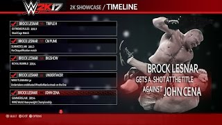 WWE 2K17 BROCK LESNAR SHOWCASE FOR PLAYSTATION 4 AND X BOX ONE CONCEPT IDEA