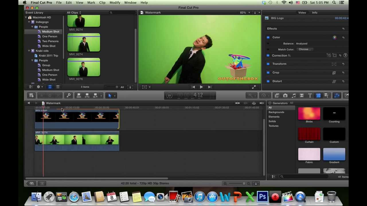 How to add a Logo/Watermark to a video in FCP X - YouTube