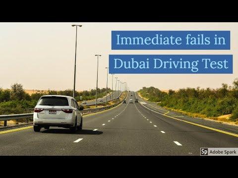 Immediate fail Dubai Driving Test