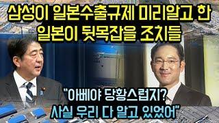 """삼성이 일본수출규제 미리알고 한 일본이 뒷목잡을 조치들, """"삼성은 이미 다 알고 있었다"""""""