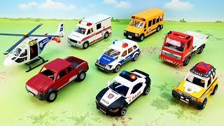 Police car Ambulance Dumper Truck - new toy videos - police cars for kids