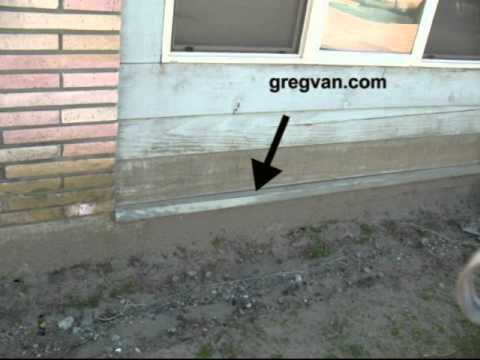 Siding Metal On Building Foundation New Home