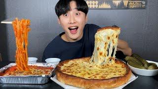 치즈가 듬뿍 1kg 치즈핵폭탄 피자에 치즈 오븐 스파게…