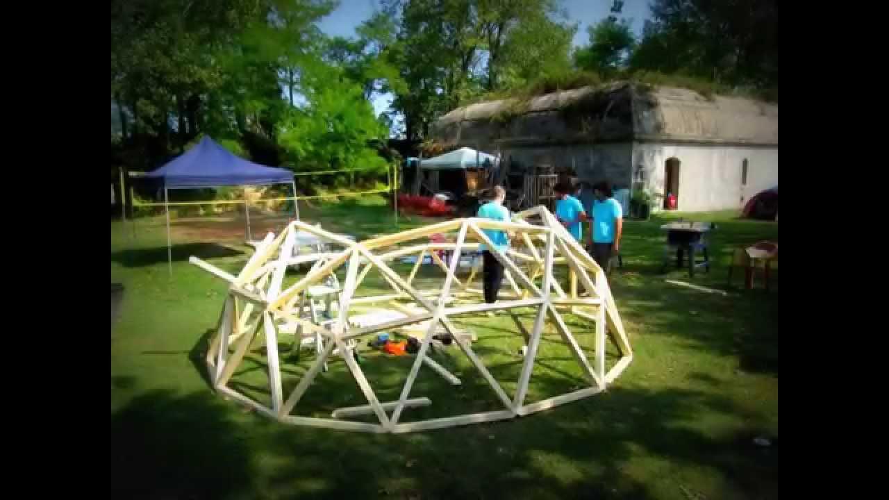 Eccezionale Dymaxion ESC / Costruire una Cupola Geodetica - YouTube LU83