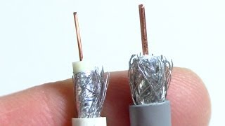 The difference between RG59 & RG6 coax cables