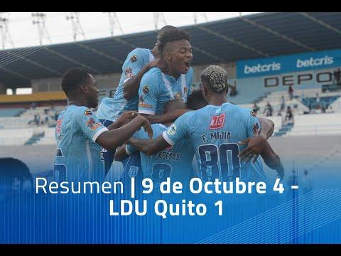 Resumen: Nueve de Octubre 4 - LDU Quito 1