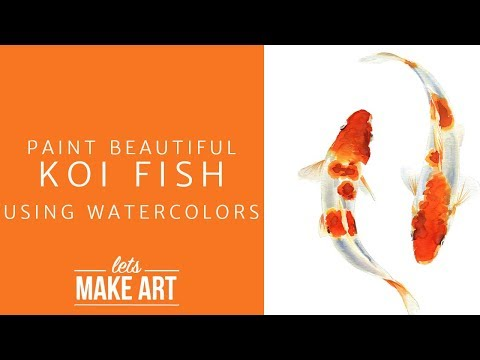 Learn To Paint Koi Fish - Easy Watercolor Tutorial