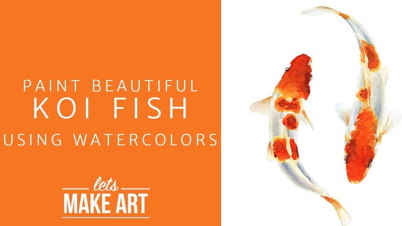 Koi Fish Watercolor Kit
