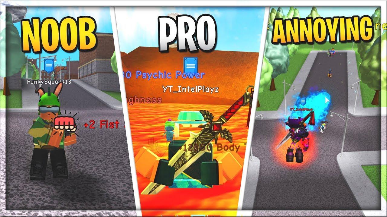 NOOB vs PRO vs ANNOYING PEOPLE | 💥 Super Power Training Simulator - Видео  смотреть