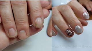 Комбинированный маникюр пошагово маникюр на короткие ногти геометрия на ногтях