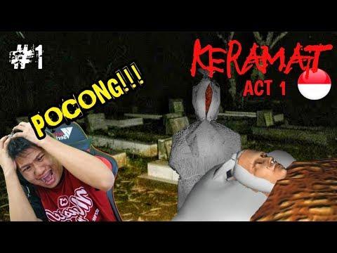 SARANG POCONG & KUNTILANAK!!! Keramat Part 1 (Best Horror Indonesia)