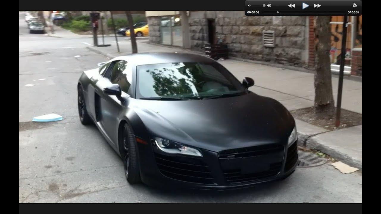Don 2 Hd Wallpaper 1080p Matte Black Audi R8 In Montreal Youtube