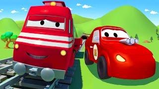 Troy el Tren y el Auto de Carreras en Auto City | Dibujos animados para niños