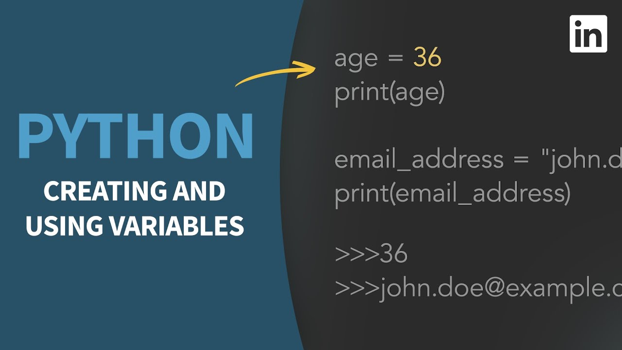 Python Tutorial - Assigning and Using Variables