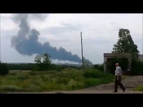 BREAKING: Video of Malaysian MH17 passenger airliner crash (7/17/14)