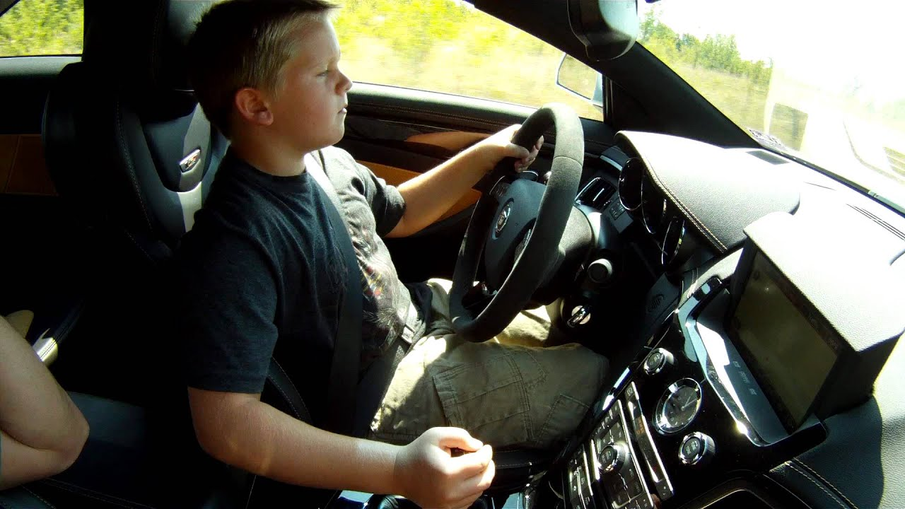 11 Year Old James Amp The 2011 Cadillac Cts V Coupe Youtube