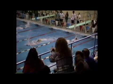 1992 Western Boone Sectionals boys 200 Medley Relay Lebanon Tiger Sharks